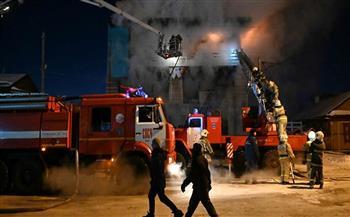 حريق هائل يلتهم مركز تجاري وسط إسرائيل.. ويصيب 7 أشخاص