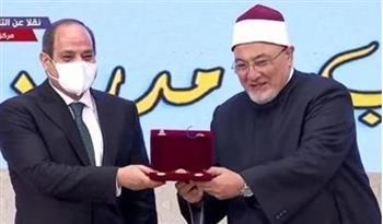 """أول تعليق لـ """"خالد الجندي"""" بعد تكريم الرئيس السيسي له"""