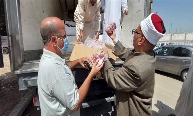 الأوقاف تعلن توزيع 14 طن لحوم أضاحى اليوم