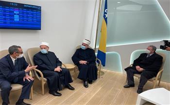 وصول مفتي الجمهورية إلى مطار سراييفو الدولي في مستهل زيارته للبوسنة والهرسك