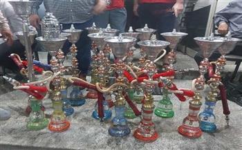 مصادرة ٣٠٠ شيشة وإزالة ٢٢٠ مخالفة فى حملة بكفر الدوار
