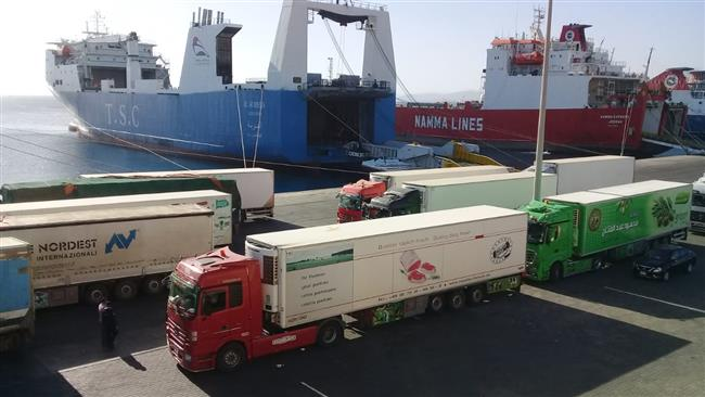 تداول 355 شاحنة و36 ألف طن بضائع عامة بموانئ البحر الأحمر