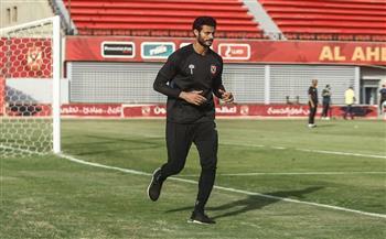مران الأهلي .. الشناوي يبدأ تدريبات الجري