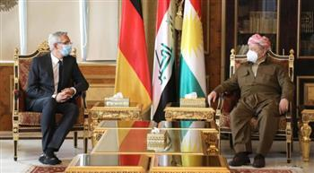 السفير الألماني لبارزاني: العراق وكردستان محط اهتمام بلادنا