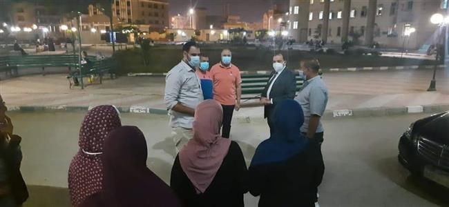 رئيس جامعة بنى سويف يقوم بجولة مفاجئة للمدينة الجامعية بنات