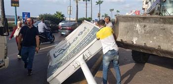 إزالة ٥٧  إعلان مخالف بالإسكندرية