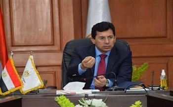 وزير الشباب والرياضة يتابع إجراءات اقامة البطولة العربية لخماسيات الكرة