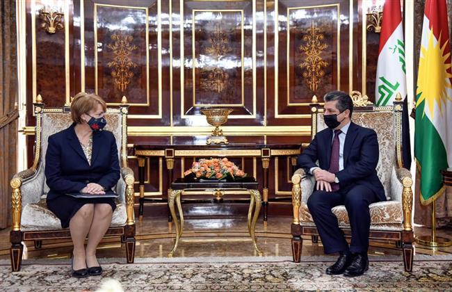 رئيس حكومة كردستان ووفد منظمة LDS الأمريكية يناقشان أوضاع اللاجئين