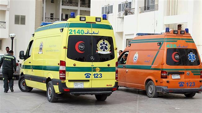 إصابة 8 أشخاص فى حادث تصادم بأسيوط