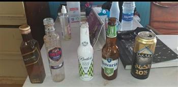 ضبط مشروبات كحولية وسلاح أبيض على شواطىء الإسكندرية