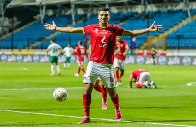 محمد شريف يسجل الهدف الأول للأهلي في مرمي الترجي