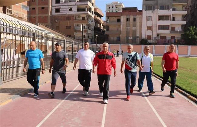 رئيس جامعة المنوفية يشارك فى مبادرة الرياضة اسلوب حياة