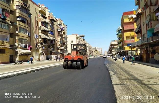 محافظ بورسعيد يؤكد قرب الانتهاء من تطوير شارع الشاحنات