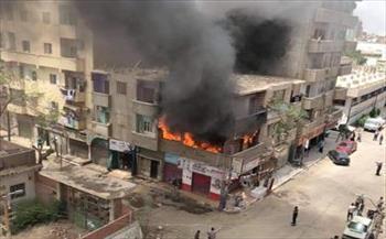 السيطرة على حريق بإحدى المحلات ببني سويف
