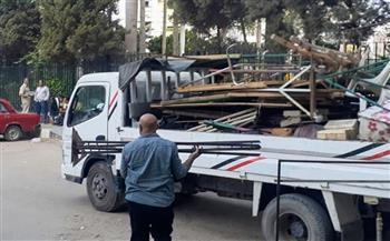 43 محضرا وإنذارا لمخالفات بيئية وإشغال طريق بقرية دشطوط ببني سويف