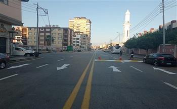 الانتهاء تطوير شارع صلاح سالم بدمياط