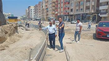 رئيس ثالث الإسماعيلية يتابع أعمال تطوير الطرق والميادين