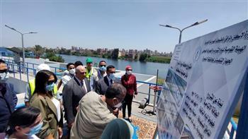 محافظ البحيرة يتفقد محطة مياه الرحمانية الجديدة