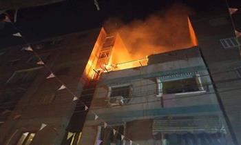 حريق يلتهم شقة في بني سويف وإصابة 3 أطفال