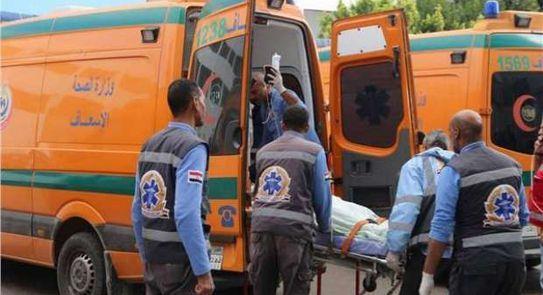 إصابة 17 شخصا فى حادث على صحراوي المنيا