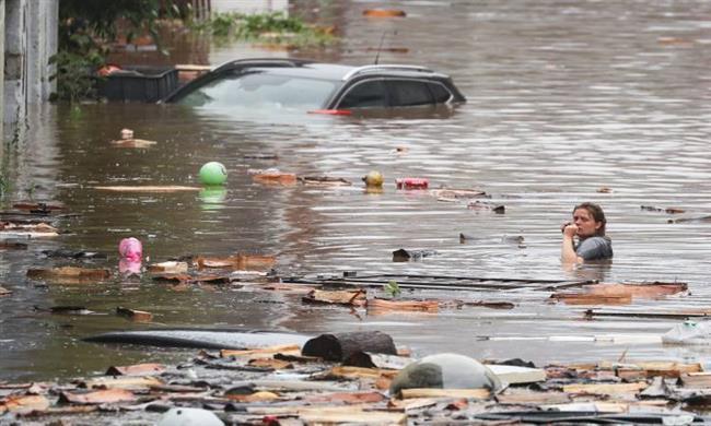 ارتفاع حصيلة ضحايا الفيضانات المدمرة في بلجيكا