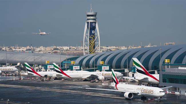 تصادم طائرتين بمطار دبي