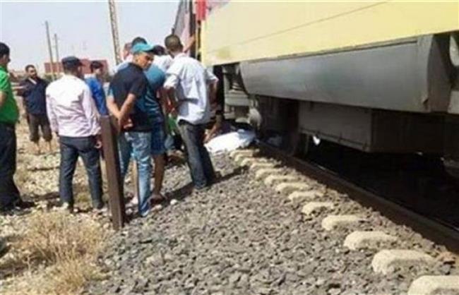 مصرع شخص دهسا بعجلات قطار كفر العرب بالشرقية