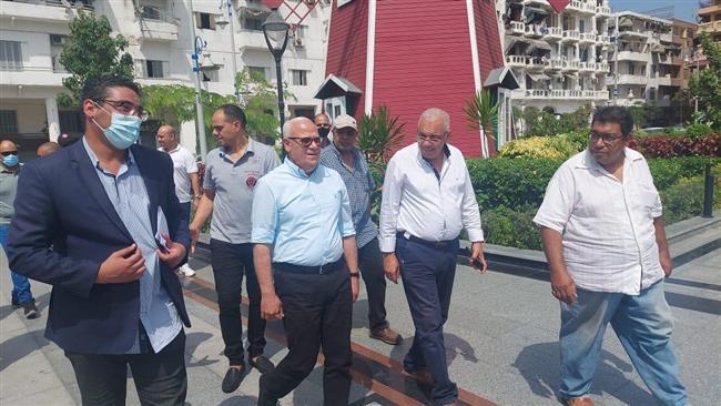 محافظ بورسعيد يتفقد حديقة فريال في رابع أيام عيد الأضحي المبارك