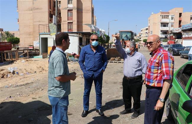حملة لإزالة الإشغالات بسوق المنطقة السكنية الرابعة بمدينة السادات