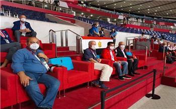 رئيس الأولمبية ووزير الرياضة يدعمان منتخب اليد أمام البرتغال