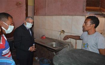 محافظ المنيا يستجيب لشكاوى المواطنين بانقطاع المياه