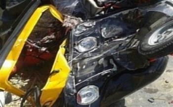 إصابة 3 أشخاص في انقلاب توك توك ببني سويف
