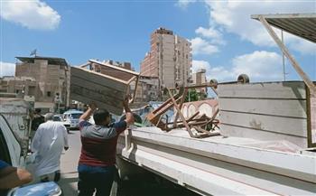 رفع ٣١١ حالة إشغال طريق مخالفة بمركزى دمنهور وأبو حمص