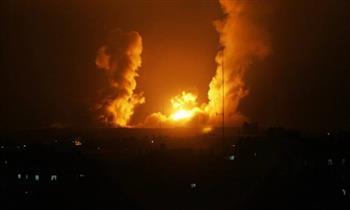 غارة لطيران الاحتلال الإسرائيلى على قطاع غزة