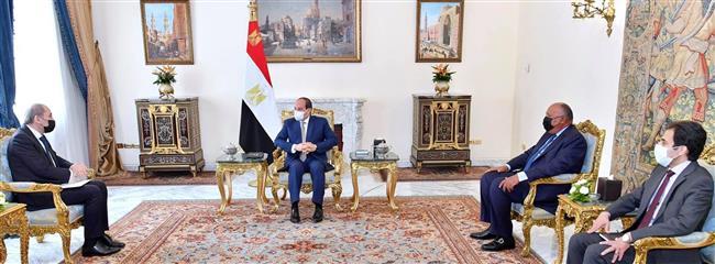 نائب رئيس وزراء الأردن لـ « الرئيس السيسي»: نتطلع للاستفادة من جهود مصر التنموية