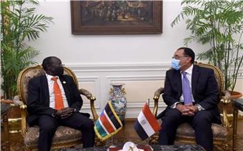 مدبولى: توجيهات رئاسية للارتقاء بالعلاقات المصرية الجنوب سودانية
