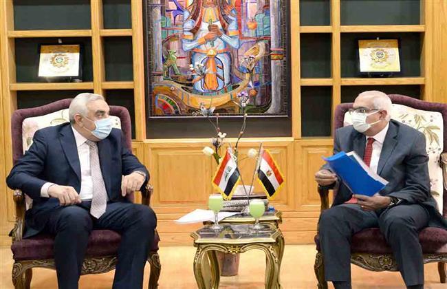 رئيس جامعة المنصورة يستقبل السفير العراقي لدعم  العلاقات  العلمية والثقافية