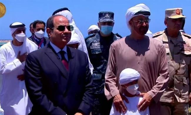 محمد بن زايد يهنئ الرئيس السيسي بافتتاح قاعدة 3 يوليو البحرية