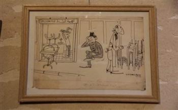 مد معرض كاريكاتير «جاهين» ببيت السحيمي