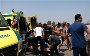 إصابة 5 أشخاص من أسرة واحدة في انقلاب سيارة ببني سويف