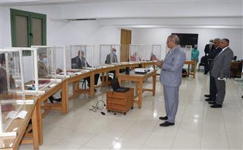 رئيس جامعة الأزهر يتفقد المجموعة التدريبية التاسعة بمركز التدريب والتطوير