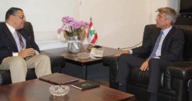 وزير الطاقة بلبنان يبحث مع سفير مصر آليات توريد الغاز لـ بيروت
