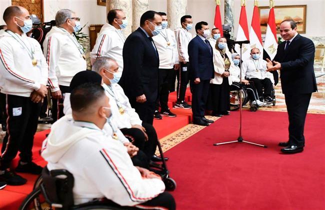 الرئيس السيسي: أبطال مصر البارالمبيين لديهم عزيمة تقهر الصعاب